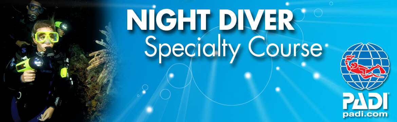 Night Diver specialty Alpha Divers Larnaca Cyprus