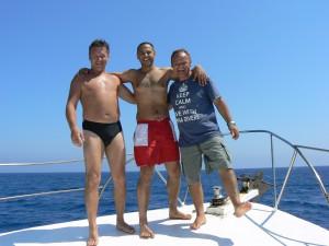 Guests on Kalypso 2 Alpha Divers Chris Martin