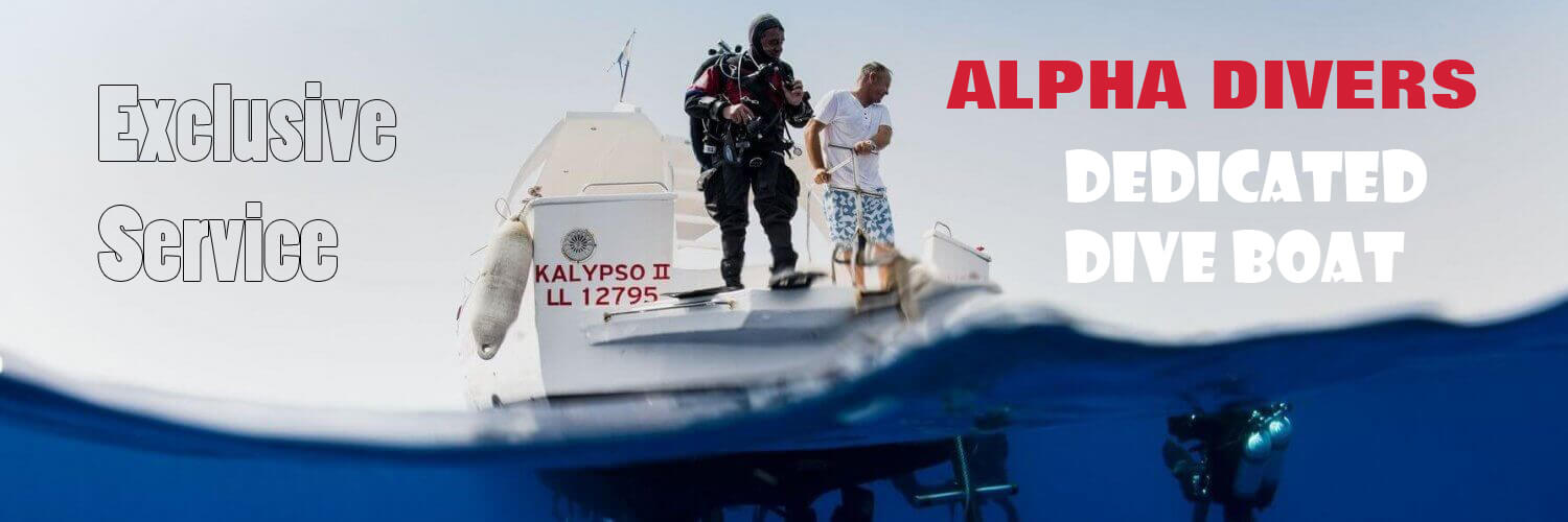 Kalypso II the dedicated dive boat for Alpha Divers on the Zenobia Wreck