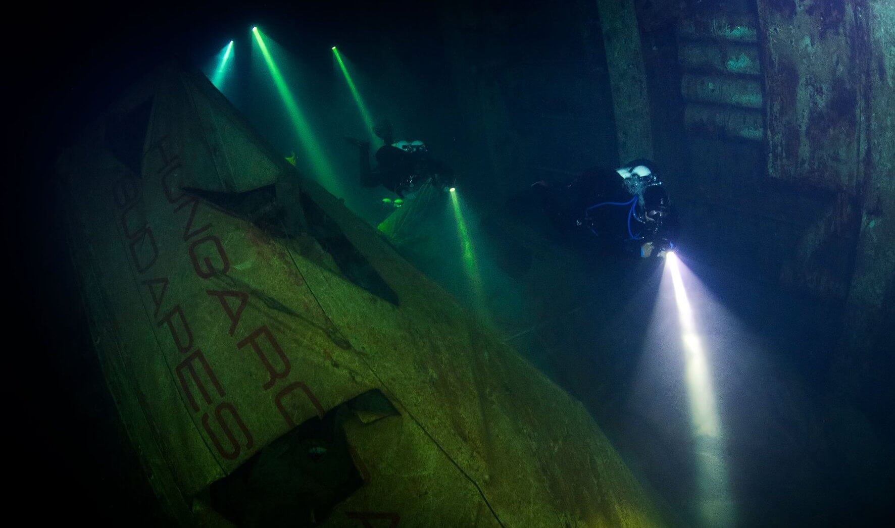 Penetration dive on the Zenobia Wreck with Alpha Divers