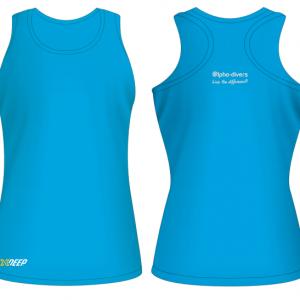 Girls Sports Vest Baby Blue